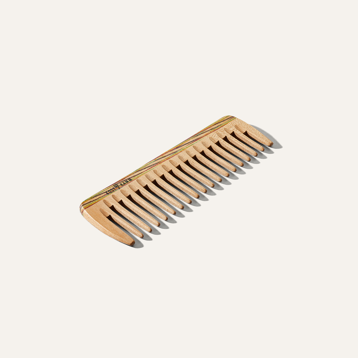 wood hair comb